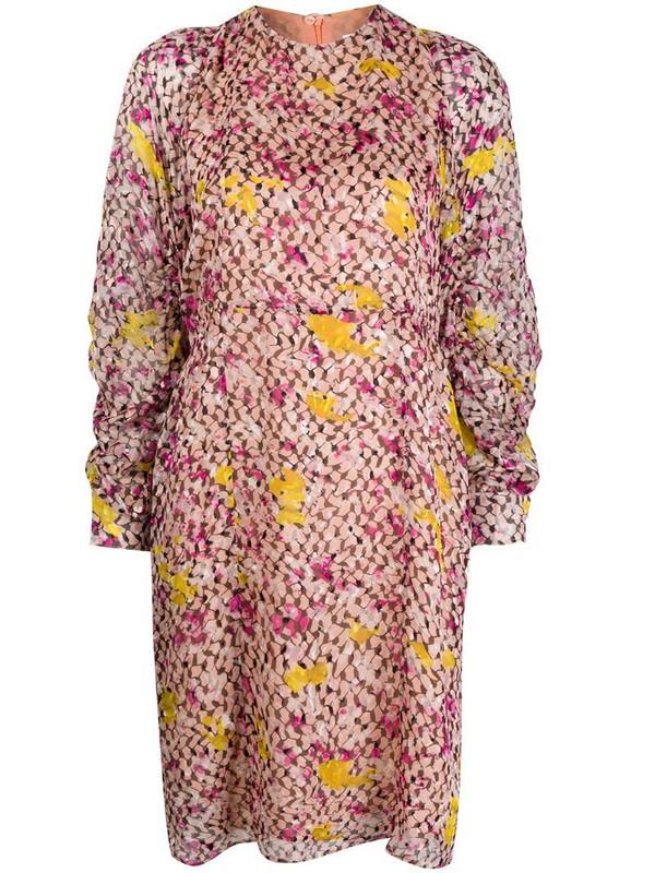 Lala Berlin abstract print midi dress in pink