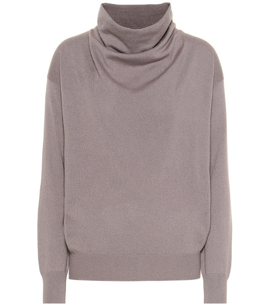 Agnona Cashmere funnel-neck sweater in purple