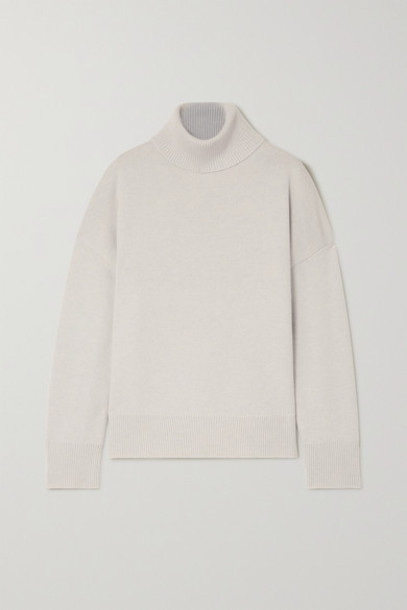 Co - Wool And Cashmere-blend Turtleneck Sweater - Gray