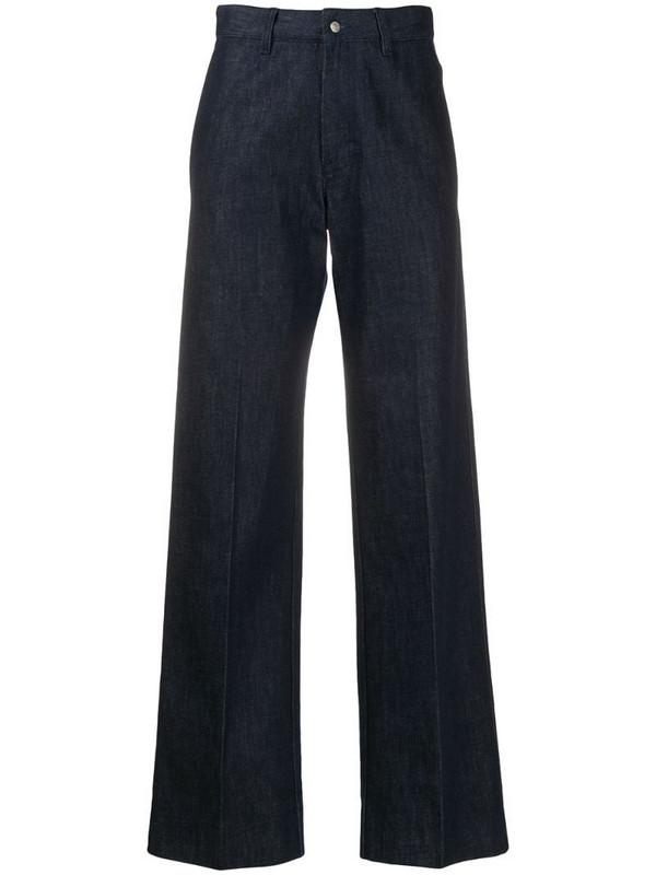 AMI Paris high-waist straight-leg jeans in blue
