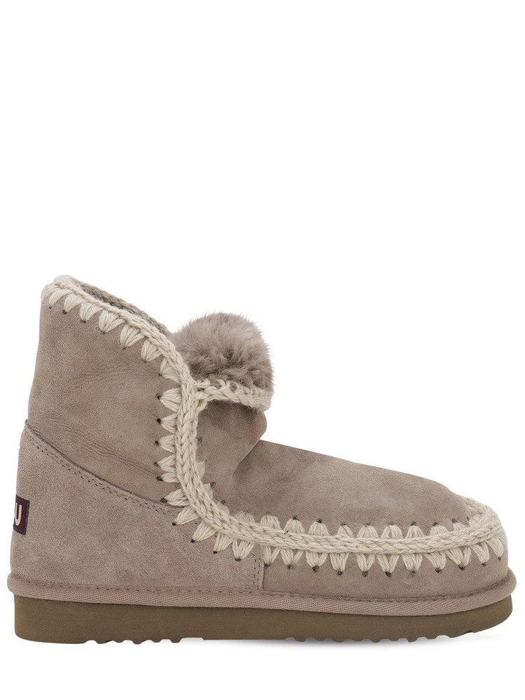 MOU 10mm Eskimo 18 Shearling Boots in taupe