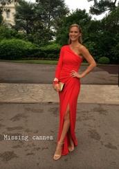 dress,red dress,maxi dress,evening dress,formal dress,bar refaeli
