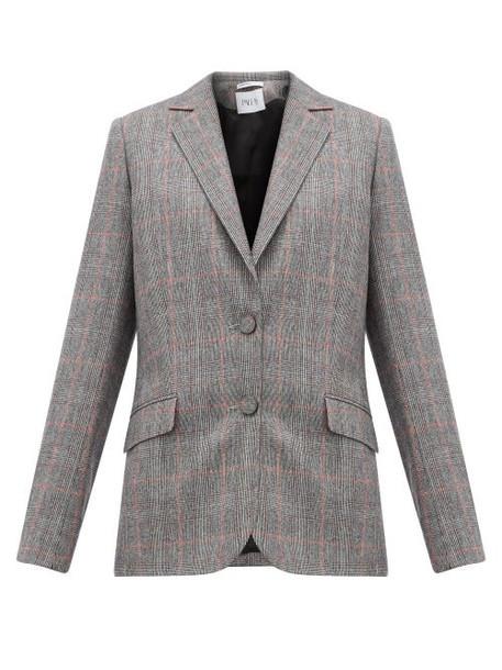 Pallas X Claire Thomson-jonville - Fidji Tailored Single Breasted Wool Jacket - Womens - Grey Multi