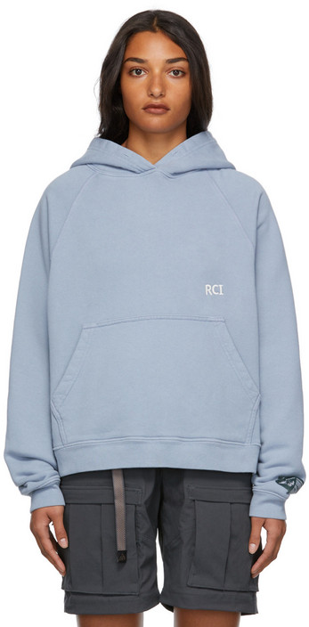 Reese Cooper Cotton Logo Hoodie in blue