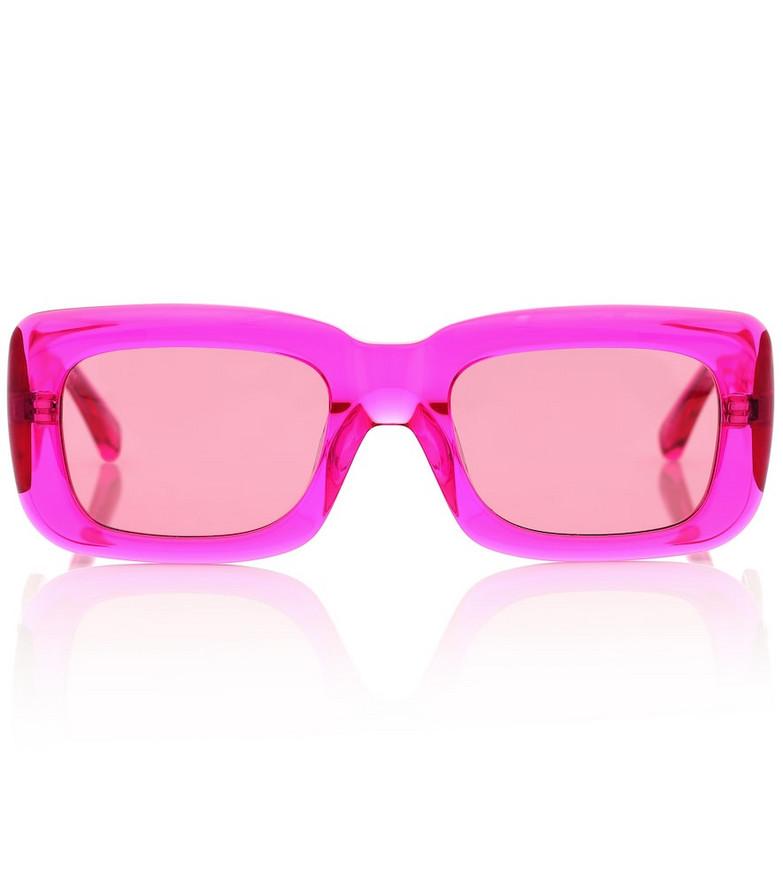 The Attico x Linda Farrow Marfa sunglasses in pink