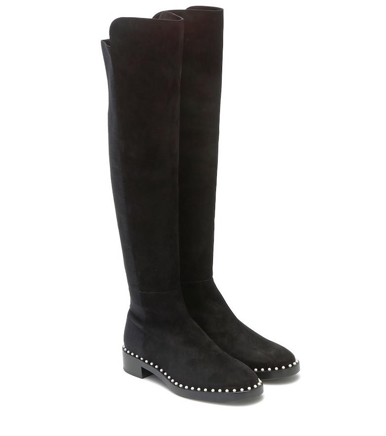 Stuart Weitzman 5050 suede over-the-knee boots in black