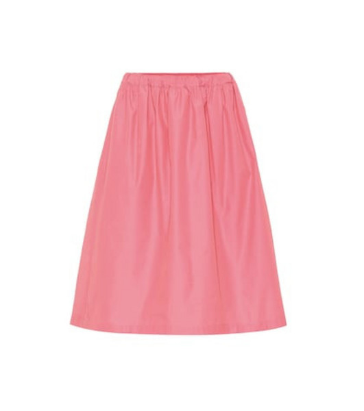 Plan C Cotton-blend midi skirt in pink