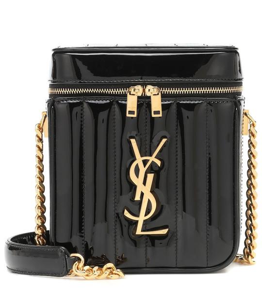 Saint Laurent Vicky Vanity leather shoulder bag in black