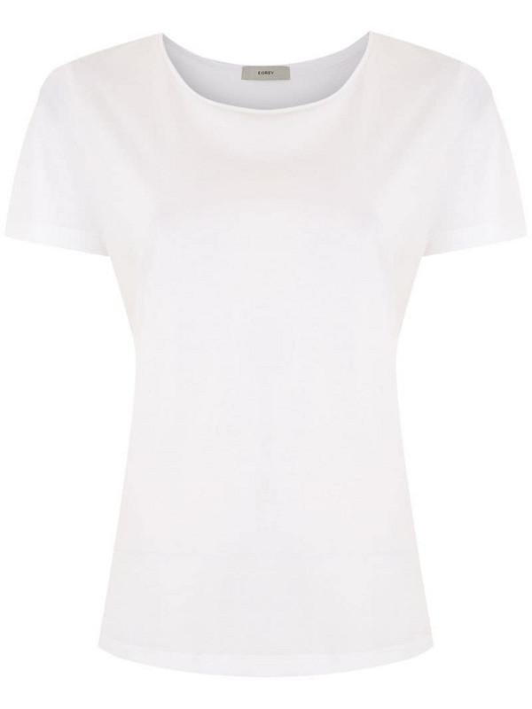 Egrey short sleeves T-shirt in white