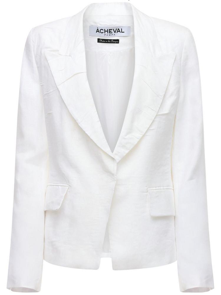 ÀCHEVAL PAMPA Gardel Linen Jacket in white