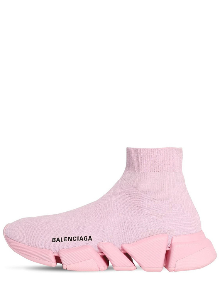 BALENCIAGA 30mm Speed 2.0 Lt Knit Sneakers in pink