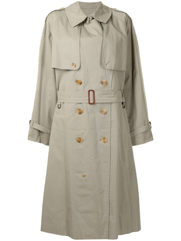 Burberry Pre-Owned oversized midi trench coat in green