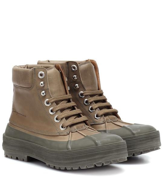 Jacquemus Les Meuniers Hautes boots in green
