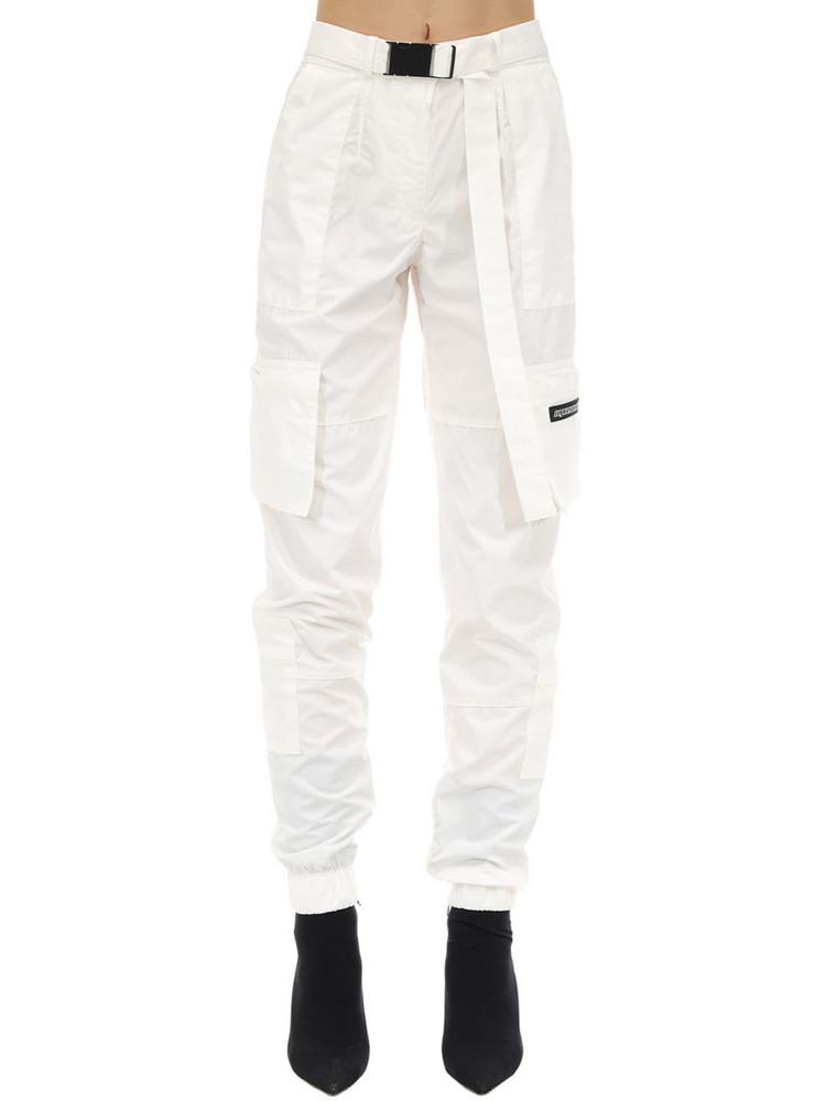 REPRESENT Nylon Cargo Pants in white