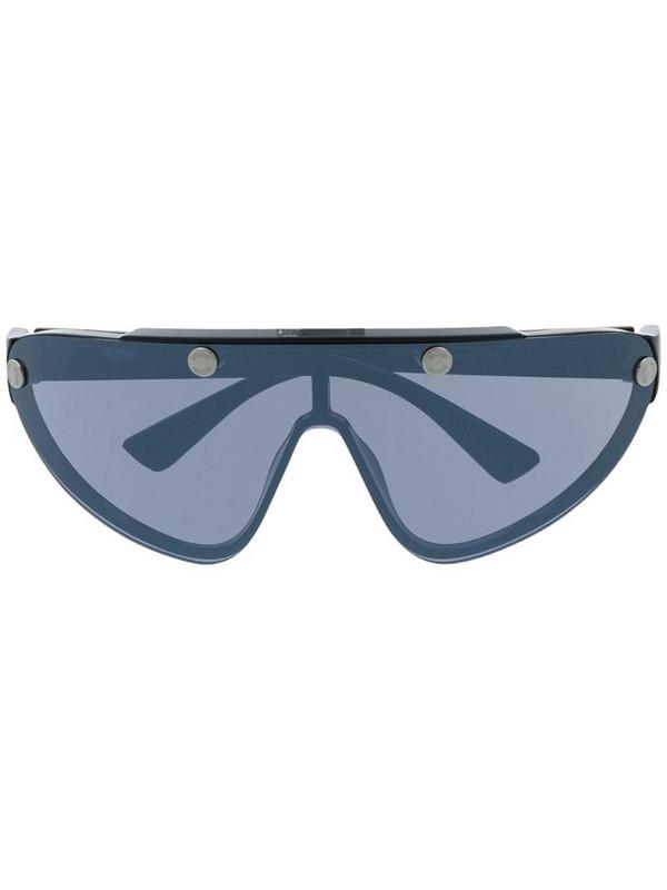 Moschino Eyewear oversized cycling sunglasses in black