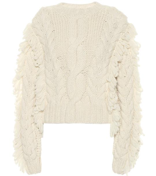 Ulla Johnson Yasmin cable-knit alpaca sweater in beige