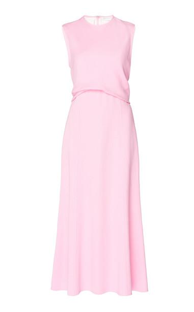 Victoria Beckham Draped Georgette Midi Dress Size: 16