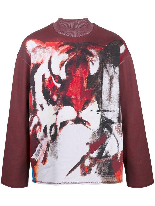 Kenzo tiger print sweatshirt in red