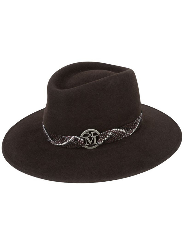 Maison Michel woven bond panama hat in brown