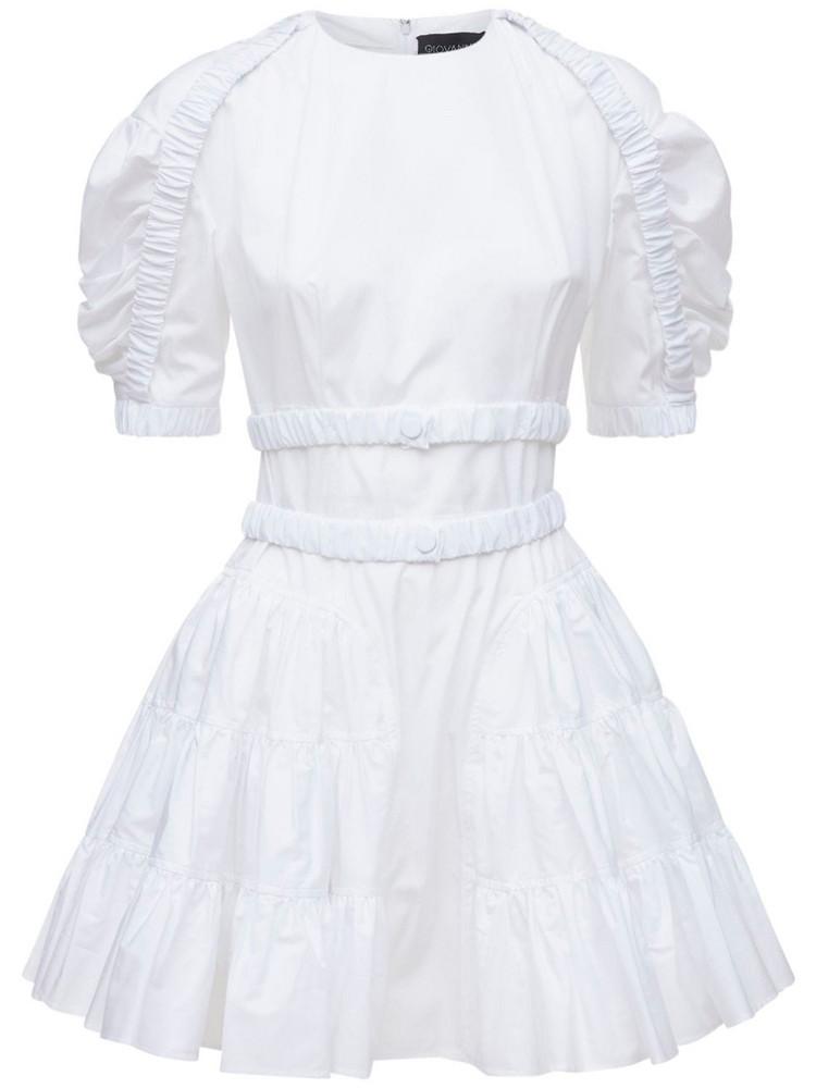 GIOVANNI BEDIN Cotton Poplin Mini Dress in white