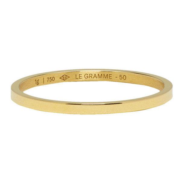 Le Gramme Gold Polished 'Le 1 Grammes' Wedding Ring