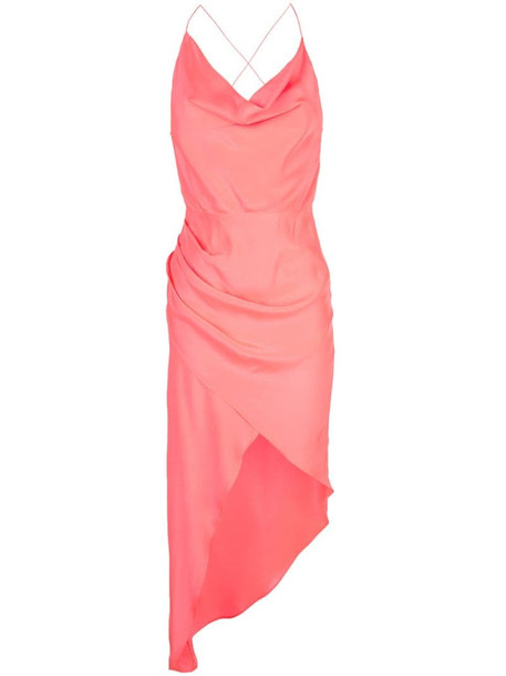 Haney Holly draped dress in pink