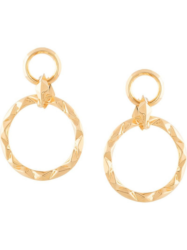 THIRD CROWN 18kt gold-plated Prizm earrings
