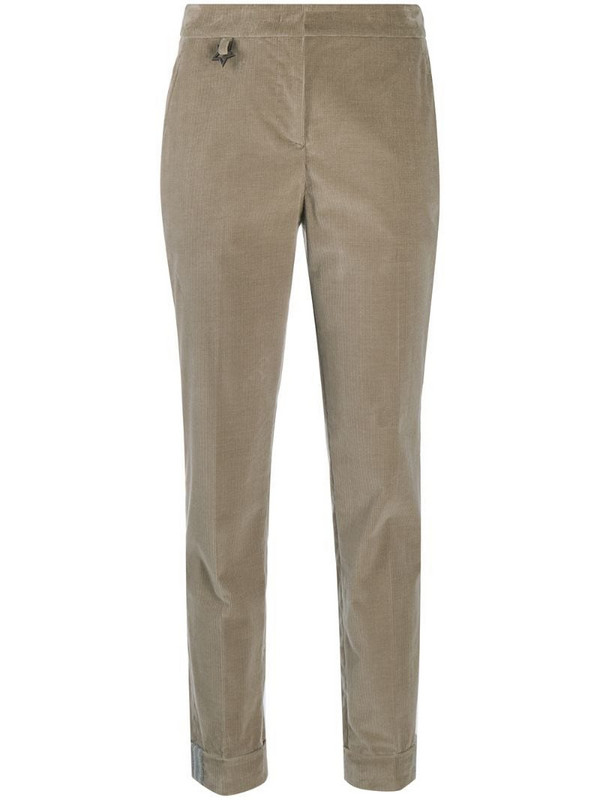 Lorena Antoniazzi tailored cord trousers in neutrals