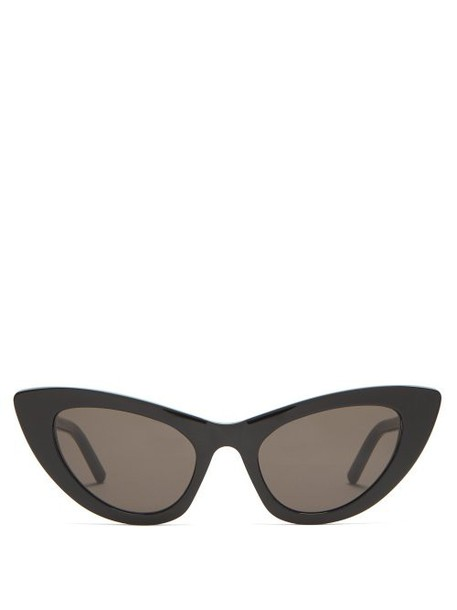 Saint Laurent - Lily Cat Eye Acetate Sunglasses - Womens - Black