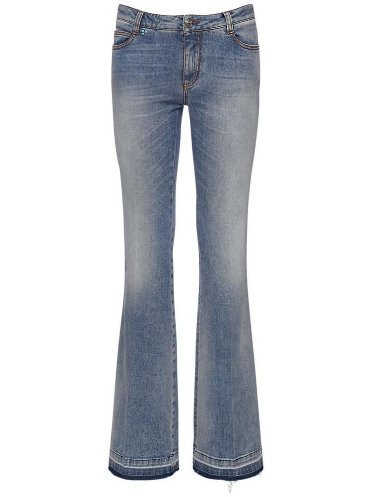 ERMANNO SCERVINO Cotton Denim Wide Leg Jeans