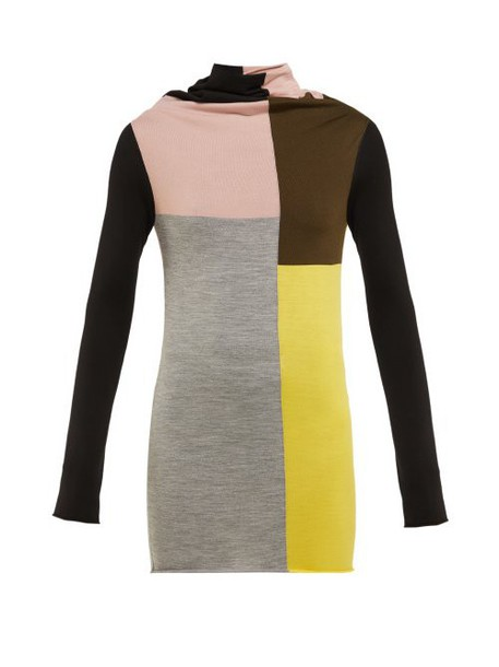 Colville - Colour Block Wool Sweater - Womens - Multi