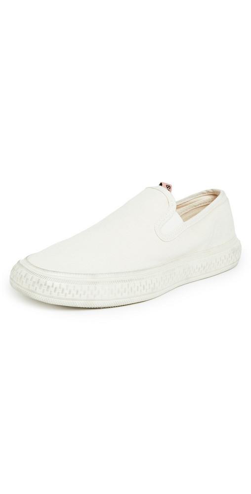 Acne Studios Classic Slip On Sneakers in white