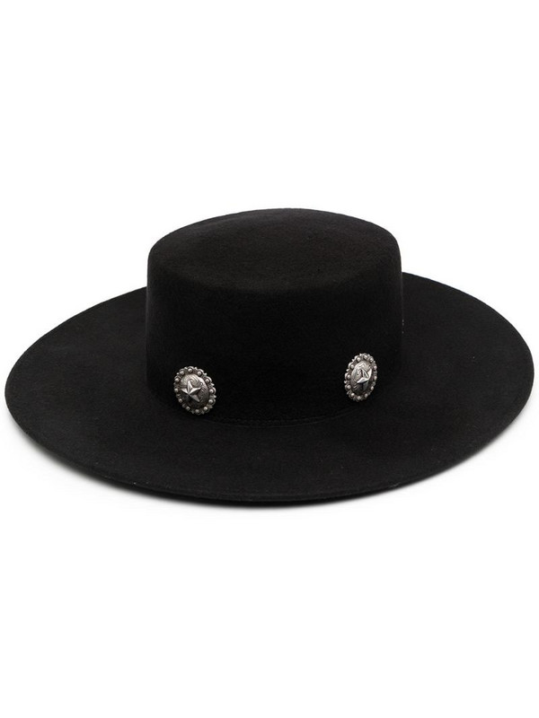 Kate Cate star studded hat in black