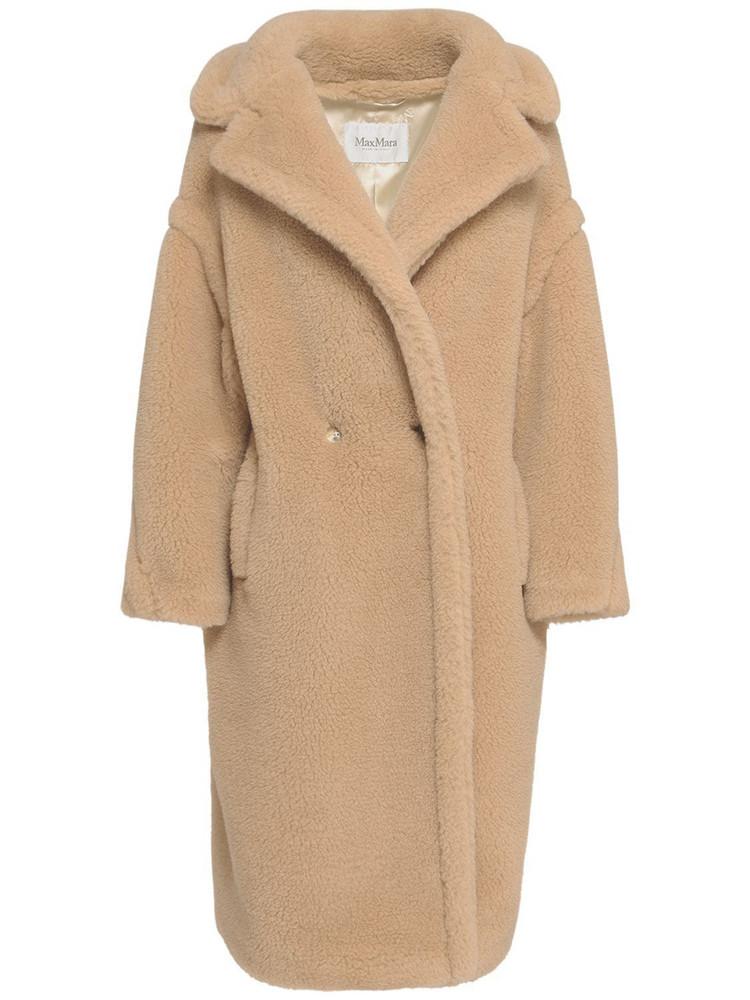 MAX MARA Ted Camel & Silk Long Coat