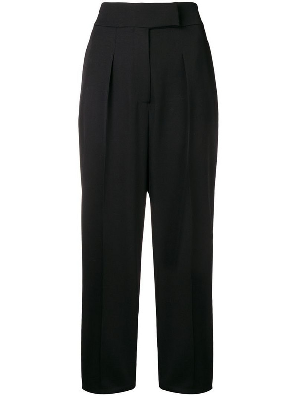 Calvin Klein 205W39nyc striped panel trousers in black