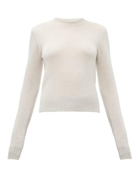 Bottega Veneta - Cropped Cashmere Blend Sweater - Womens - Ivory