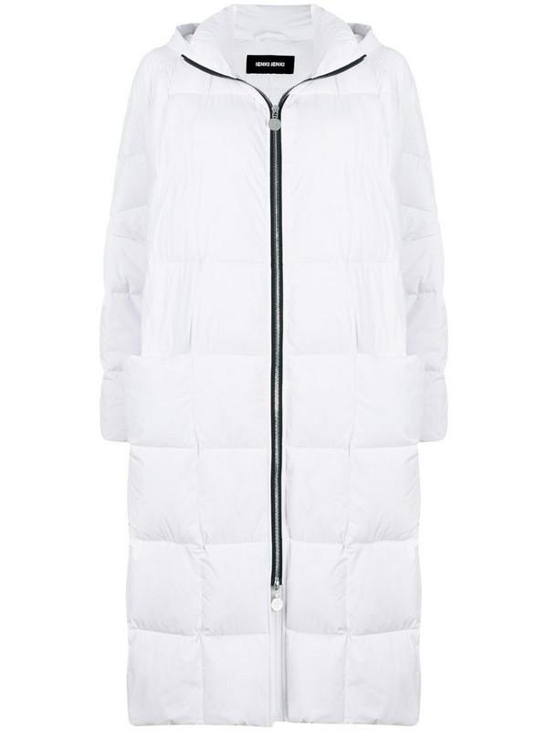 Ienki Ienki Pyramide padded coat in white