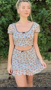 skirt,luna montana,blue,peach