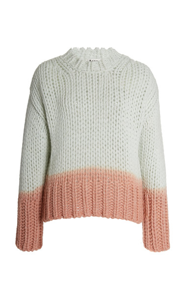 Acne Studios Kirene Dip-Dye Wool-Blend Sweater in green
