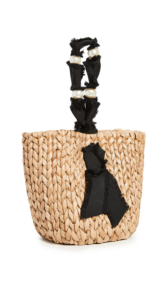 PAMELA MUNSON Petite Isla Bahia Basket Bag in black