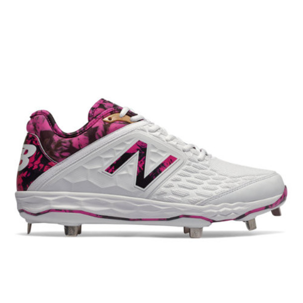 New Balance Fresh Foam 3000v4 Mothers Day Men's Cleats and Turf Shoes - Pink/White (L3000AP4)