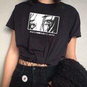 top,graphic tee,t-shirt,harajuku,anime,fashion week street style,japanese