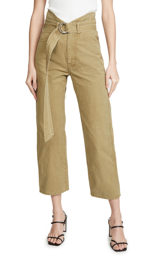 Marissa Webb Travis Canvas Pants in green