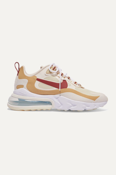Nike - Air Max 270 React Neoprene And Faux Leather Sneakers - Tan