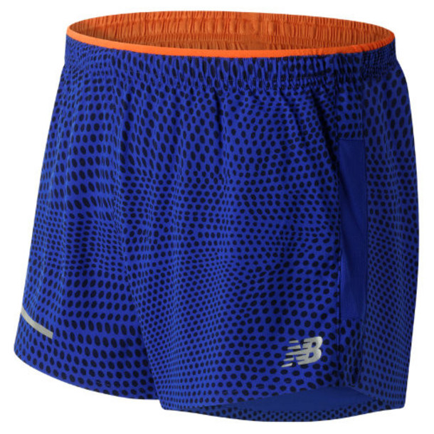 New Balance 61231 Men's Impact 3 Inch Split Short - Blue/Orange (MS61231MRP)