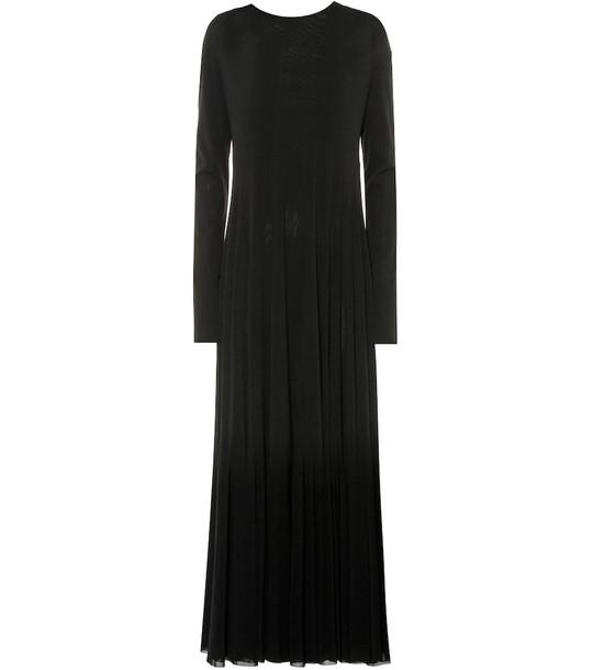Jil Sander Stretch-jersey maxi dress in black