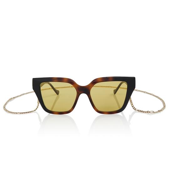 Gucci Square acetate sunglasses in brown
