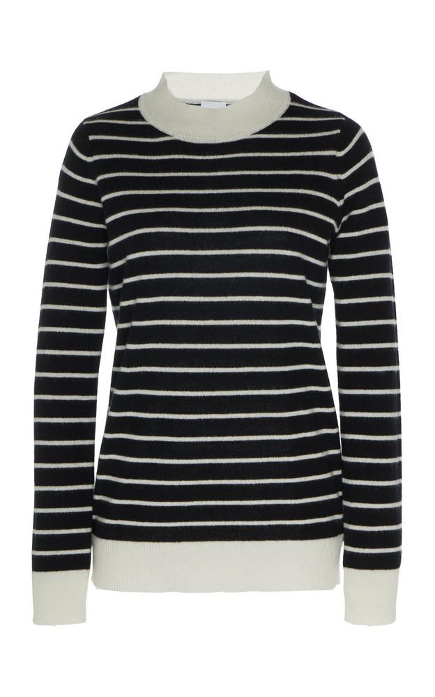 Madeleine Thompson Charon Striped Cashmere Top in black