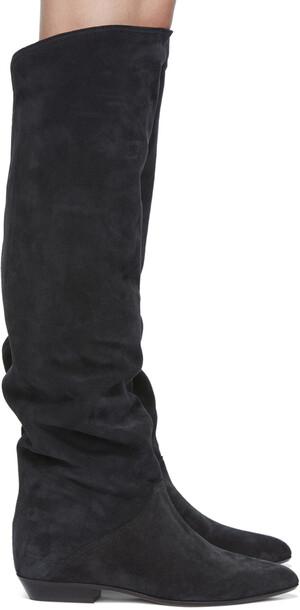 Isabel Marant Black Suede Seelys Boots