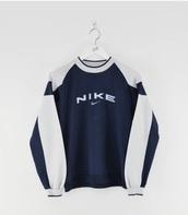 sweater,nike,wintage,blue,grey
